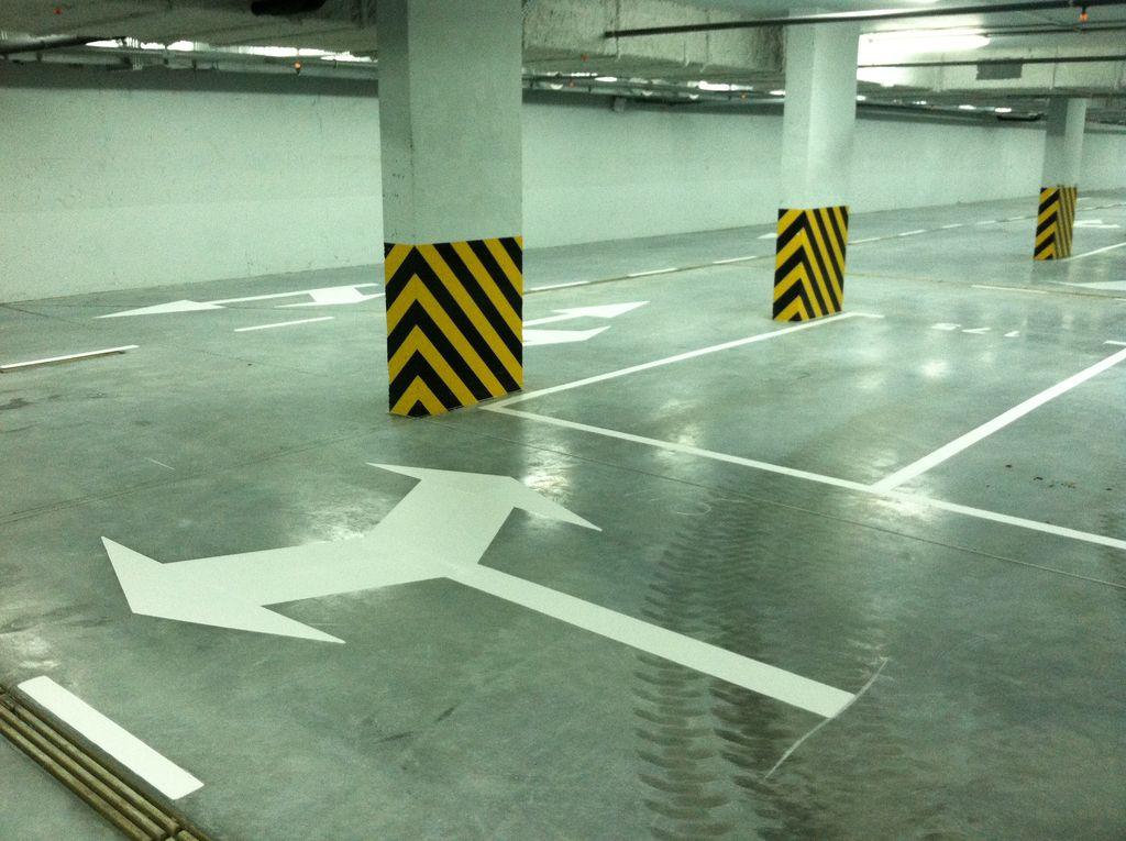 Разметка для подземного паркинга
