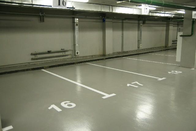 Наливной пол для паркинга