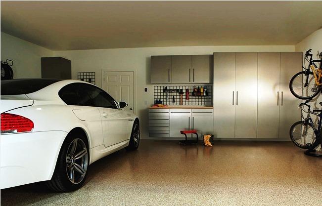 Наливной пол для гаража