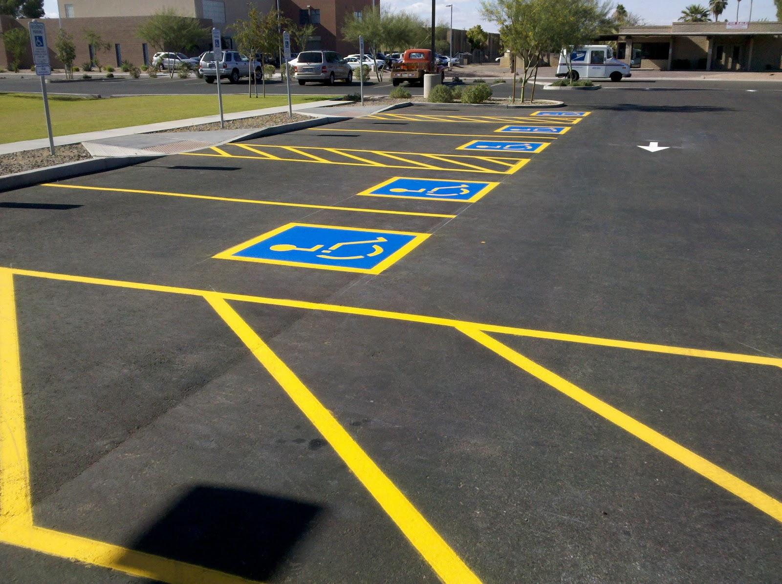 Разметка для паркингов
