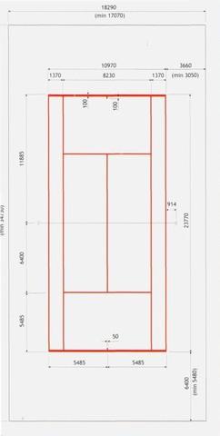 Разметка теннисной площадки